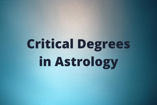Michael O'Connor, Astrologer - Critical Degrees in Astrology